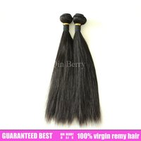 """Cheap 6a Unprocessed Length 8""""-30"""" 4pcs lot Peruvian Virgin Hair Straight Human Hair Weft Can Be Dyed And Bleached Free Shipping"""