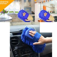 Wholesale High Quality Car Cleaning Tools Microfiber super clean brushes Car Cleaning Sponge Product Cloth Towel Wash Gloves Supplies