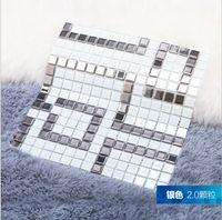 Wholesale Swimming pool Mosaic tiles crystal kitchen wall brick and wall brick bathroom tile