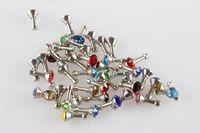 Wholesale Universal Mobile Phone Diamond Earphone Jack Plugs mm Universal Headset Dust Plug Earrings A Copper Base Rhinestone Country