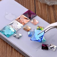 faceted glass stones - 500pcs mm square flat back faceted crystal glass stone beads C decoration accessories