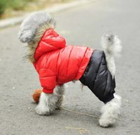apparel for dogs - Pet Dog Warm Down Jacket Dog Clothes Apparel Hoodie Hooded Coat for Winter Dog Apparel clothes
