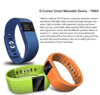 Wholesale 2015 TW64 SmartBand Wristband Bracelet health Tracker Bluetooth Smart Watch SmartWatch Sports fitness Pedometer For Android iOS