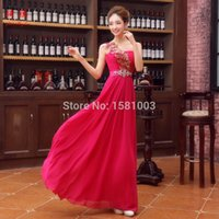 Wholesale Evening dress Korean Style long new design bridal fashion slim toast Vestidos de fiesta female one shoulder Vestidos sexy