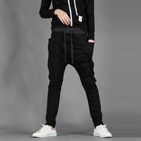 Wholesale New Mens Boys Fashion Harem Sports Dance Sweatpants Big Pockets Pants Baggy Jogging Casual Trousers Color Size M XL FG1511