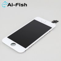 Wholesale A For iPhone s LCD Display Touch Digitizer Assembly Replacement Repair Parts Full Screen White Black DHL