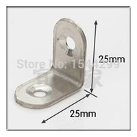 Wholesale 100pcs mm stainless steel angle Corner bracket L shape satin finish frame board shelf support