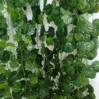 artificial ivy - Wall Mounted Artificial Flowers Plants inch m Ivy Leaf Garland Fake Foliage Wedding Christmas Room Home Decor