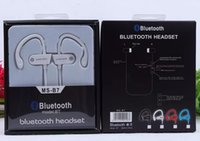 Wholesale Perfect Qualiity BT power Sports MS B7 bluetooth headset E hook Headphone Best Loud Sounds version