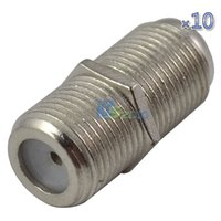 barrel connector adapter - F Type RG6 Connector Female to Female Coaxial Barrel Coupler Adapter Coax Cable F81 GHz