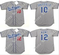 sheffield - Cheap GARY SHEFFIELD HIDEO NOMO jersey Brooklyn Los Angeles Dodgers Throwback Baseball Jersey Stitched size S XL