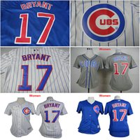 Wholesale Women Chicago Cubs shirts Kris Bryant girls baseball Jersey female white blue womens size S XXL