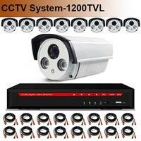 Wholesale 16CH DVR Kit CCTV System HDMI H CH DVR HD TVL CMOS SONY IMX138 CCTV Camera IR Cut Night Vision TB HDD