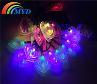 animal shaped candle - Set of heart shaped Solar String Lanterns LED Fairy Lights Garden Stars