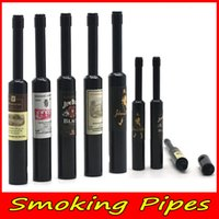 metal smoking pipes - 2016 Pipe Metal Smoking Pipes Aluminum Smoking Pipes Portable And Detachable Winebottle Pipes mm Small Size Glass Pipe