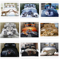 wholesale sheets - 13 colors D Bedding Set animal bedding set Bed Set Full Queen Size Duvet Cover Fitted Sheet Flat Sheet Pillow Shams m0515