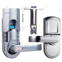 Wholesale Fashion Smart Digital Silver Electronic Keyless Keypad Locks Fingerprint Scanner Door Lock with Single Latch DIY