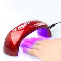Wholesale 2015 European regulations Fashion Mini Portable W LED CCFL Nail Dryer Lamp Machine for UV Gel Nail Polish pieces