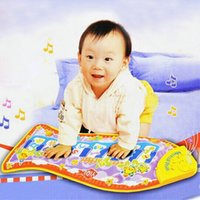 Wholesale Fish Appearence Games Fashion carpet Child piano music Toy fish Music Education crawl mats toys baby quilt