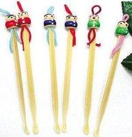 bamboo earpick - ear cleaner ershao ear care bamboo Lovely doll head earpick art curette M58 ES