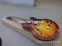 Wholesale ES335 jazz guitarra lp custom honeyburst color hollow electric guitar oem guitar in china