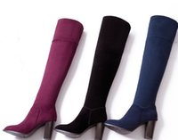 Wholesale 2016 hot sale Knight boots big size4 women fashion and high quality knee boots Factory price