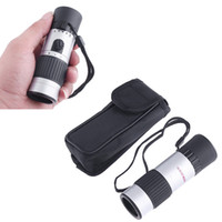 Wholesale 15 X High definition Telescope Binoculars Mini Zoom Monocular Telescope Eyepiece with Gleam Night Vision Scope for Hunting H4031