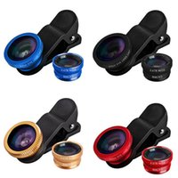 Cheap Hot Sale 3 In 1 Clip-on Fish Eye Macro Wide Angle Mobile Phone Fisheye Lens Camera kit for iPhone 6 5 4 Samsung S5 S6 For HTC