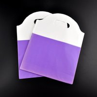 bargains shopping - Lovely Plastic Shopping Gift Bags Bargain Sale Purple And White x cm Jewelry Stockings Candy Plastic Packaging Bags