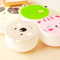 Wholesale Lunch Box Lovely lunch Korean children s cartoon cute lunch box microwaveable lunch box tableware plastic bowls student