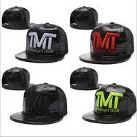 Wholesale 2015 New Arrivals The Money Team TMT Shinny Faux Leather Snapbacks Black Gold White Letter Colors Adjustable Caps Hats Mix Order