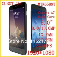 """Cheap New CUBOT T9 Android 3G Smartphone 5"""" FHD 1080P IPS OGS MTK6589T Cortex A7 Quad Core 1.5GHz 8MP 13MP 1GB+16GB Gyroscope 3G GPS"""