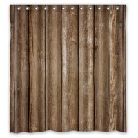 bathroom waterproofing products - Classical Vintage Rustic Brown Faux Wood Waterproof Shower Curtain For Bathroom Products Mildewproof PEVA Bath Curtain x72