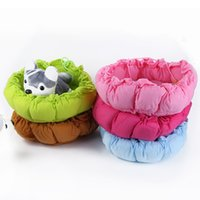 Wholesale Pet Cute Kennel Nest Puppy Warm Dogs Cat Bed Cute Sleeping Bag House Cushion Mat Dropshipping