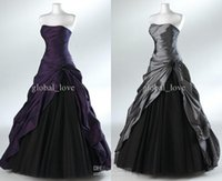Ball Gown ball gown prom dresses - Ball Gown Long Black Prom Dresses Elegant Vestido De Festa Strapless Floor Length Party Dress Taffeta Evening Dresses