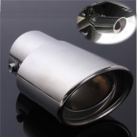 Wholesale New Universal Chrome Stainless Steel Car Rear Round Exhaust Pipe Tail Muffler Tip uk
