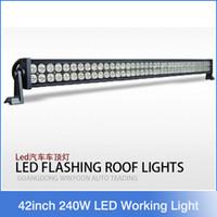 42inch imperméable à l'eau Spot / inondation / combo 20400LM 240W barre lumineuse de travail LED TRUCK, CAR, JEEP, 4X4, BATEAU, TANK