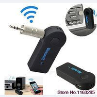Wholesale Hot mm AUX Bluetooth Wireless Stereo Audio Music Receiver Adapter for iPhone iPod