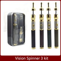 Wholesale Vision Spinner Battery Carbon Spinner iii Starter Kit mah Battery Variable Voltage V Carbon Fiber with Kanger Protank2 Atomizer