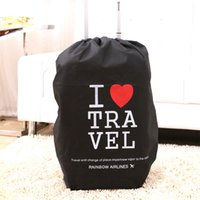 Wholesale travel Luggage suitcase cover storage bag case Thickening waterproof protective dust cover Portable Travel Accessorie Kit Non Woven Fabrics