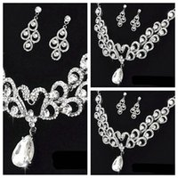beautiful swans - Luxurious Crystal Beaded Swan Beautiful Necklace Earrings Sets Bride Accessories Bridal Wedding Jewelry For Women Bride s Wedding Party Dec