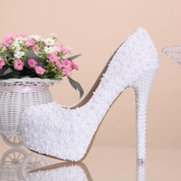paintings mary - Hot white bud silk luxury fashion rhinestone pearl crystal shoes the size of the custom bride wedding party women shoes