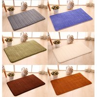 american rug pad - New Hot CM Striped Coral Velvet Pad Bathroom Rugs High Quality Rebound Surface Layer Washable Carpets colors
