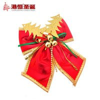 Wholesale christma ornament crafts Christmas tree decoration pendant cm the red tree bow to g