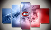 Wholesale Framed Printed Hockey poster pieces Group Painting room decor print poster picture canvas F