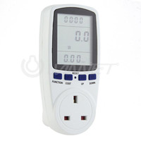 amps watts - Power Monitor Monitoring Energy Socket Ammeter Analyzer LCD Watt Voltage Amps