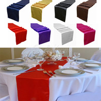 100% Polyester atmosphere decor - Satin Table Runner Many Colors You Pick For Christmas Decor For Christmas Wedding Favor Romance Atmosphere New Elegant Edyge RUN