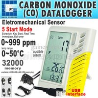 Wholesale M0198103 Digital USB Wall mount Desktop Carbon Monoxide CO Datalogger ppm points Clock Taiwan Made
