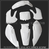Wholesale High performance WHITE KLX110 dirt bike plastic kits plastic covers for Kawasaki motorcycle Pit bike plastic parts
