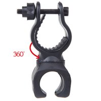 Wholesale New Arrival Swivel Bicycle Bike LED Flashlight Mount Bracket Holder Torch Clip Clamp Universal Black